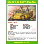 Space Ork Battlewagon Vehicle Data Card from Warhammer 40,000 2nd Edition